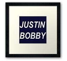 Justin Bobby Framed Print