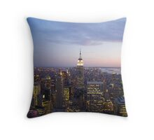 New York Sunset Throw Pillow