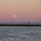 Moon Rising Over Outer Harbour by Stuart Daddow Photography