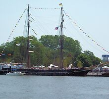 Roald Amundsen - Docked on the Saginaw River by Francis LaLonde