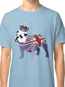 English Bulldog and Crown Classic T-Shirt