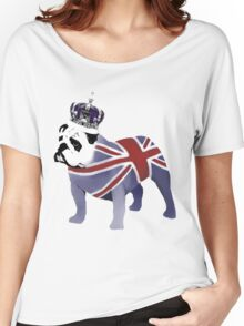 English Bulldog and Crown Women's Relaxed Fit T-Shirt