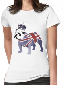 English Bulldog and Crown Womens Fitted T-Shirt