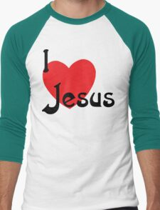"Christian ""I Love Jesus"" Men's Baseball ¾ T-Shirt"