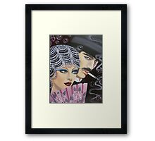ART DECO COUPLE Framed Print