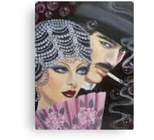 ART DECO COUPLE Canvas Print