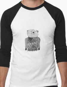 Bear Illustration  Men's Baseball ¾ T-Shirt