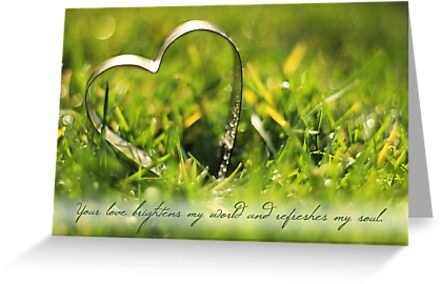 Your Love Brightens My World (Card) by Tracy Friesen