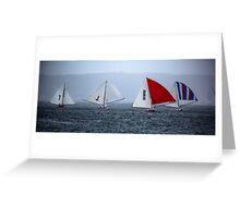 Historic Skiffs - Australian Championships, Sydney 2013 Greeting Card