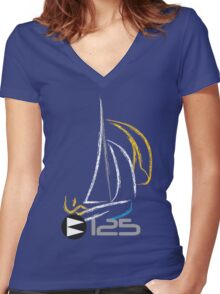 125 Sailing Dinghy Women's Fitted V-Neck T-Shirt