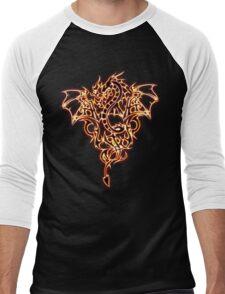 "Dragon ""Fire Dragon"" Dark Men's Baseball ¾ T-Shirt"