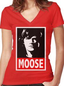 """Sam """"MOOSE"""" Supernatural Women's Fitted V-Neck T-Shirt"""