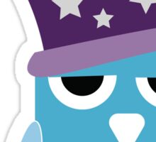 Octo the Angry Owl Wizard Sticker