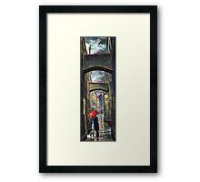 Prague Old Street Love Story Framed Print