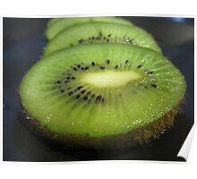 A Slice of Kiwi Fruit Poster