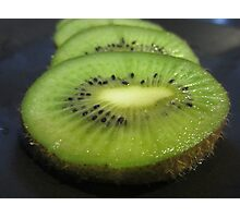 A Slice of Kiwi Fruit Photographic Print