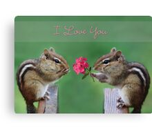 Chippy - I Love You Canvas Print