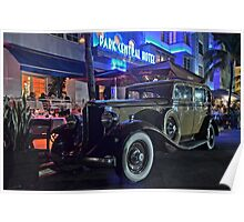 Park Central Hotel on Ocean Drive in Miami Beach, Florida Poster
