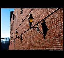 West Main Street Alley With Lanterns - Riverhead, New York  by © Sophie W. Smith