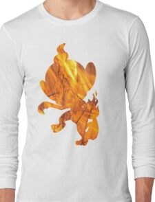 Chimchar used Flame Wheel Long Sleeve T-Shirt