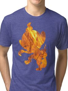 Chimchar used Flame Wheel Tri-blend T-Shirt