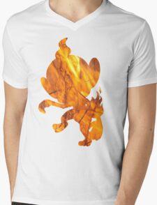 Chimchar used Flame Wheel Mens V-Neck T-Shirt