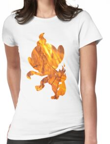 Chimchar used Flame Wheel Womens Fitted T-Shirt