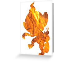 Chimchar used Flame Wheel Greeting Card