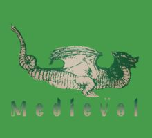 Medieval Green Dragon One Piece - Short Sleeve