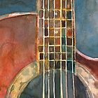 Banjos, Guitars, Mandolins - Dorrie Rifkin Watercolors by Dorrie  Rifkin