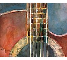 Ovation Acoustic Red Guitar Photographic Print