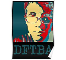 Hank Green DFTBA Black  Poster