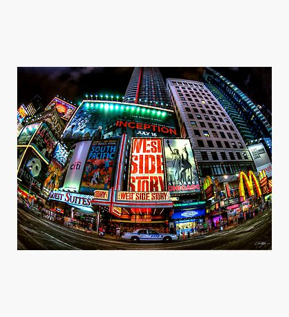 Fisheye on Broadway Photographic Print