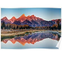 Brilliant Cathedral - Grand Teton National Park Poster