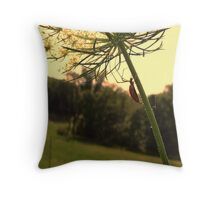 Itsy bitsy spider on flower Throw Pillow