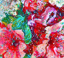 """""""Contemporary Flowerz"""" Colorful, Contemporary Floral Art Painting by Wendy Middlemass"""