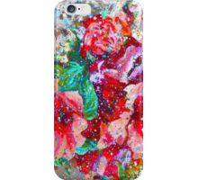 """Contemporary Flowerz"" Colorful, Contemporary Floral Art Painting iPhone Case/Skin"
