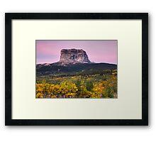 Chief Mountain Sunrise - Glacier National Park Framed Print