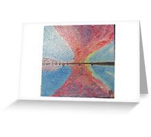 sailboats at dusk Greeting Card