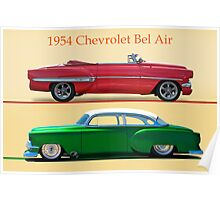 1954 Custom Chevrolet Bel Air w/ ID Poster
