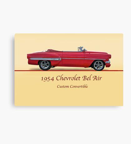 1954 Custom Chevrolet Bel Air w/ ID Canvas Print