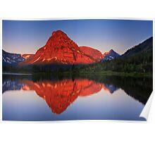 Two Medicine Sunrise - Glacier National Park Poster