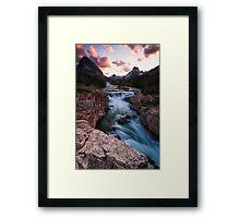 Prelude to Dreams - Many Glacier Framed Print