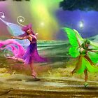 Dancing Auroras - Pink and Green by Aimee Stewart