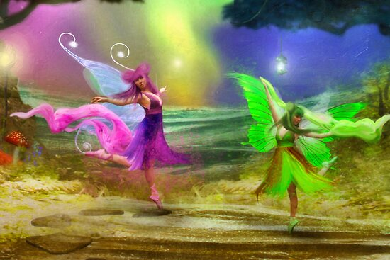 Dancing Auroras - Pink and Green by Aimee Stewart