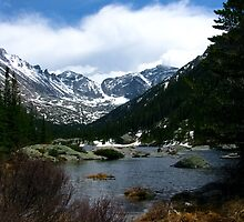 Mills Lake in Rocky Mountain National Park by Reese Ferrier