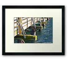On the Community Pier Framed Print