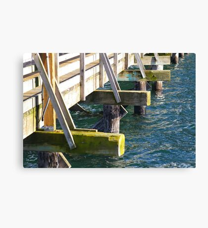 On the Community Pier Canvas Print
