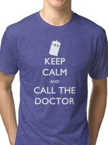 Keep Calm and Call the Doctor (TARDIS) Tri-blend T-Shirt
