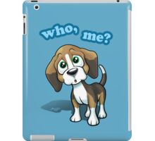 Beagle - Who, Me? - blue iPad Case/Skin